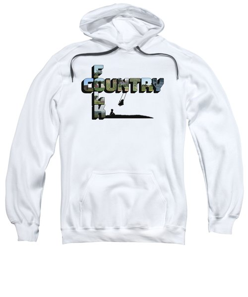 Country Folk Big Letter Graphic Art Sweatshirt