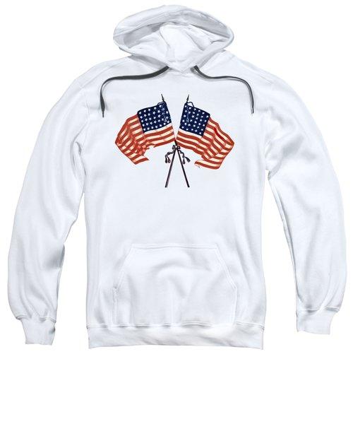Crossed Civil War Union Flags 1861 - T-shirt Sweatshirt