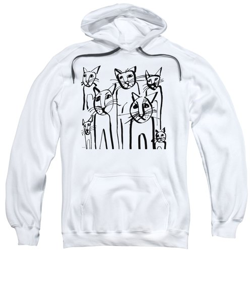 Curious Cats-  Art By Linda Woods Sweatshirt