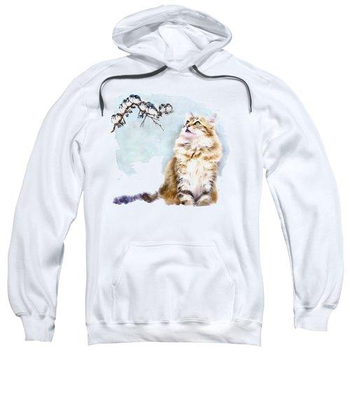 Cute Cat On The Lurk Sweatshirt