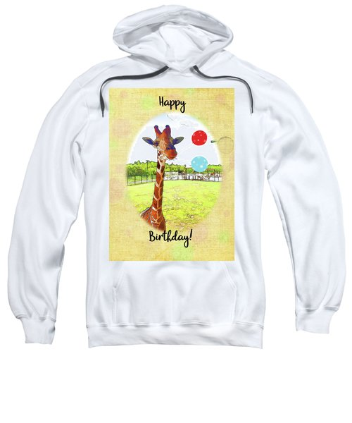 Cute Giraffe With Birthday Balloons Sweatshirt