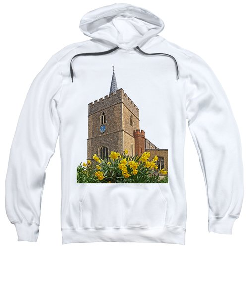 Daffodils Blooming At St. Mary's Church Sweatshirt