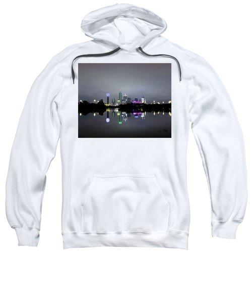 Dallas Texas Cityscape River Reflection Sweatshirt