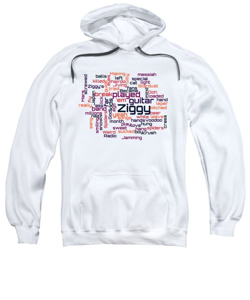 David Bowie - Ziggy Stardust Lyrical Cloud Sweatshirt