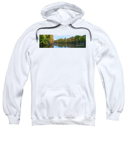 Davidson's Mill Pond Autumn Panorama  Sweatshirt