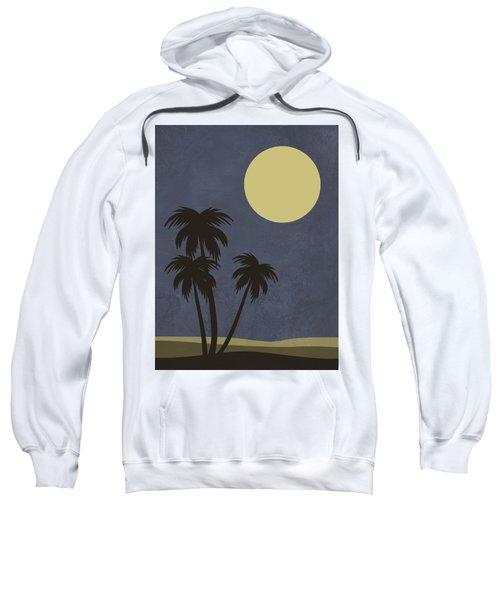 Desert Palm Trees And Yellow Moon Sweatshirt