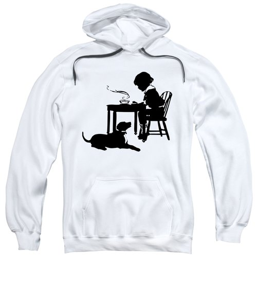 Dining With The Dog Silhouette Sweatshirt