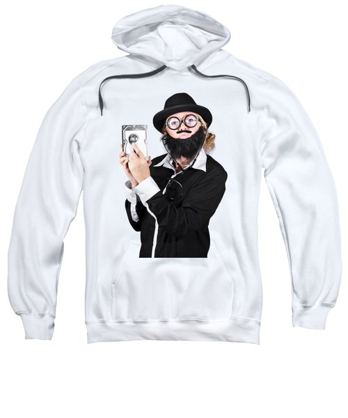 Sweatshirt featuring the photograph Doctor Examining Hard Drive by Jorgo Photography - Wall Art Gallery