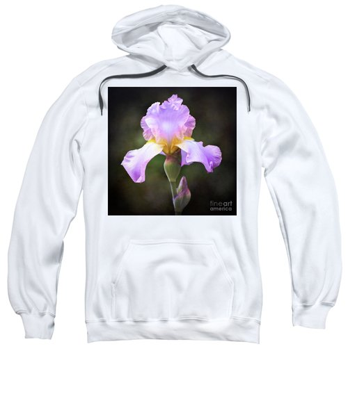 Dramatic Purple Iris Sweatshirt