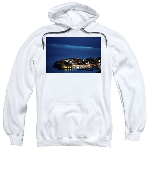 Dubrovnik Old Town At Night Sweatshirt