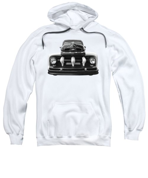 Early Fifties Ford V8 F-1 Truck In Black And White Sweatshirt
