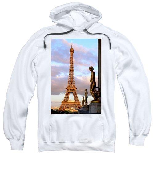 Eiffel Tower At Sunset Sweatshirt