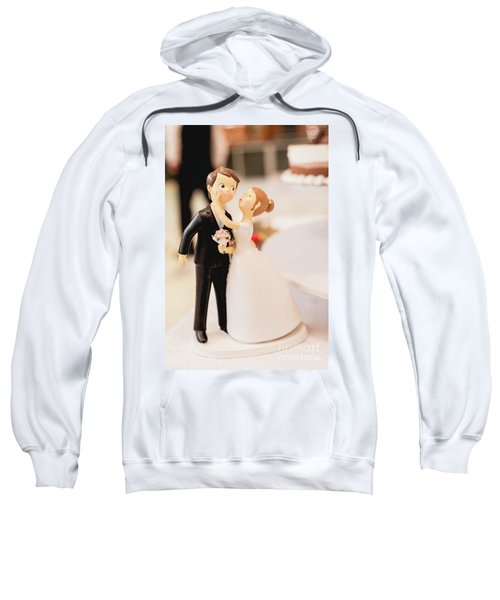 Elegant Wedding Cake Dolls Sweatshirt