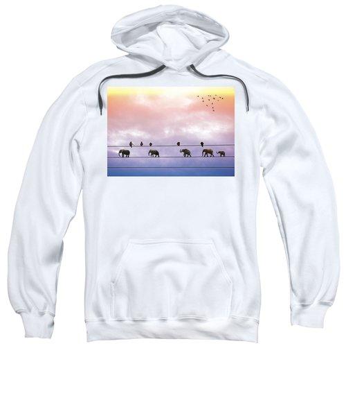 Elephants On The Wires Sweatshirt