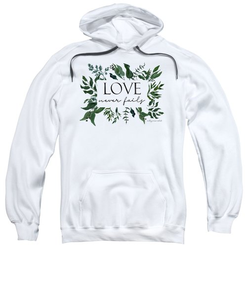 Emerald Wild Forest Foliage 2 Watercolor Sweatshirt