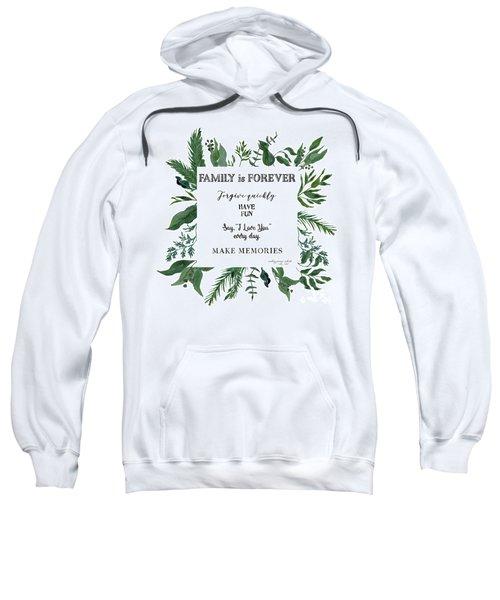 Emerald Wild Forest Foliage 3 Watercolor Sweatshirt