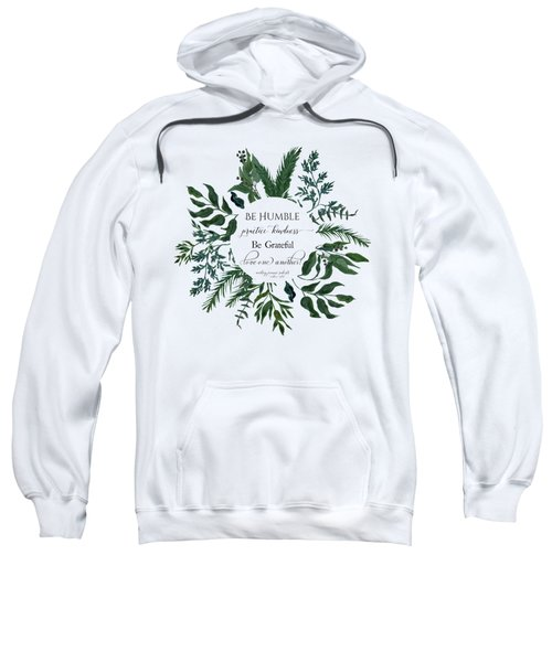 Emerald Wild Forest Foliage Watercolor Sweatshirt