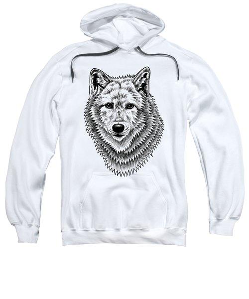 European Wolf - Ink Illustration Sweatshirt