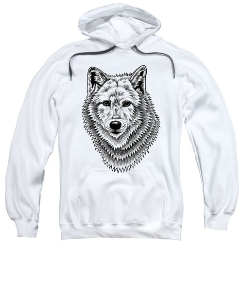 European Wolf - Ink Illustration Sweatshirt