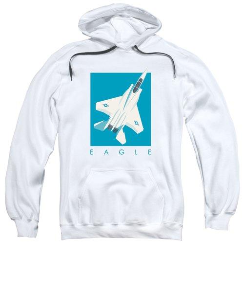 F15 Eagle Fighter Jet Aircraft - Blue Sweatshirt
