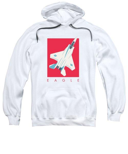 F15 Eagle Fighter Jet Aircraft - Crimson Sweatshirt