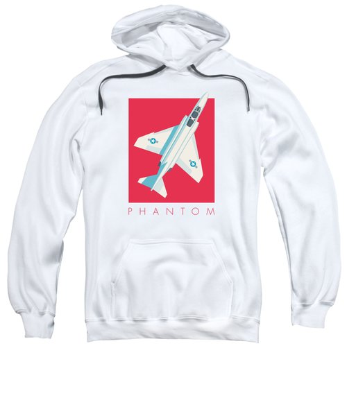 F4 Phantom Jet Fighter Aircraft - Crimson Sweatshirt
