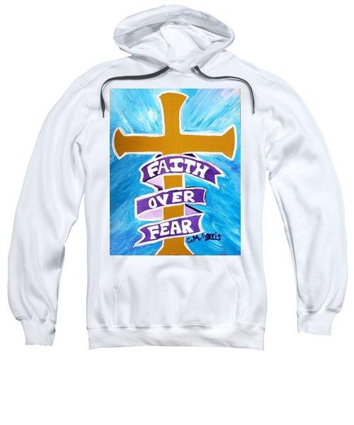 Faith Over Fear Cross  Sweatshirt