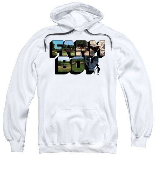 Farm Boy Big Letter 2  Sweatshirt