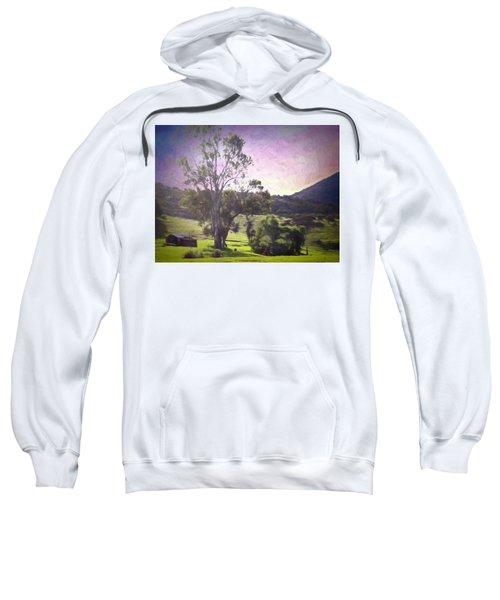 Sweatshirt featuring the photograph Farm Scene by Alison Frank