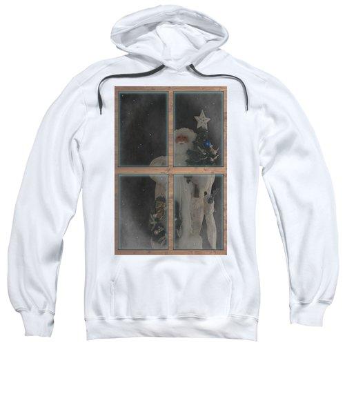 Father Christmas In Window Sweatshirt