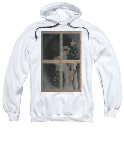 Father Christmas In Window Sweatshirt