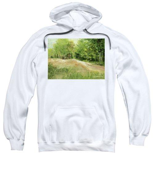 Woodland Trees And Dirt Road Sweatshirt