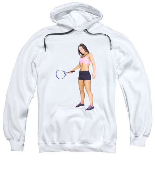 Sweatshirt featuring the photograph Fit Active Female Sports Person Playing Tennis by Jorgo Photography - Wall Art Gallery
