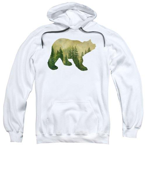Forest Black Bear Silhouette Sweatshirt