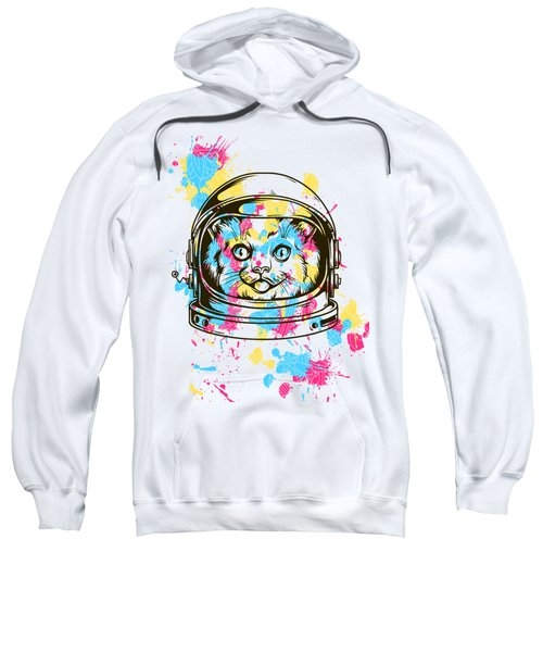 Funny Colorful Cat Astronaut Sweatshirt