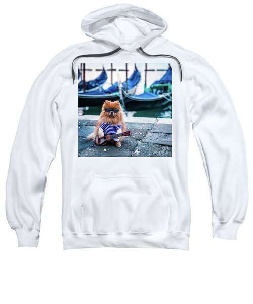 Funny Dog At The Carnival In Venice Sweatshirt