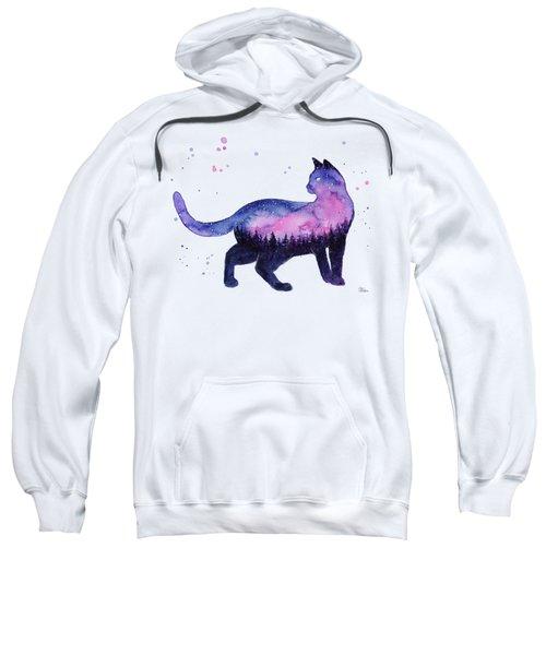 Galaxy Forest Cat Sweatshirt