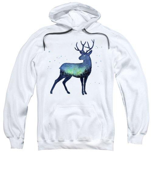 Galaxy Reindeer Silhouette Sweatshirt