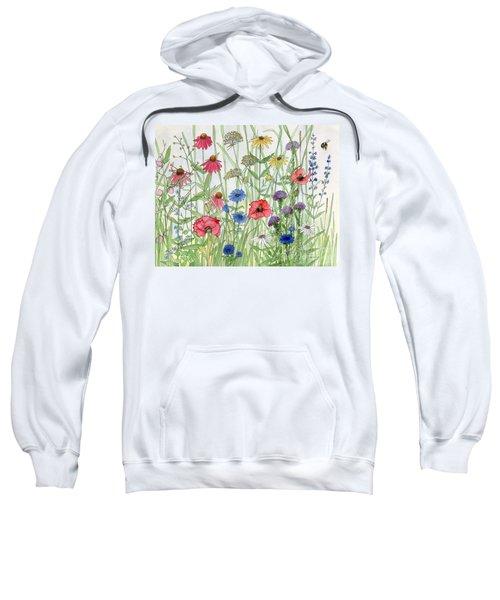 Garden Flower Medley Watercolor Sweatshirt