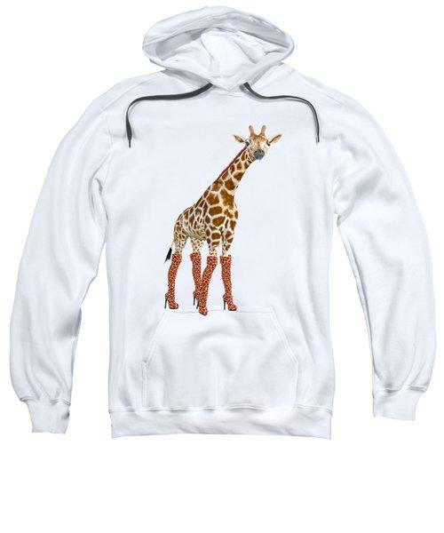 Giraffe Funny Pose Sweatshirt
