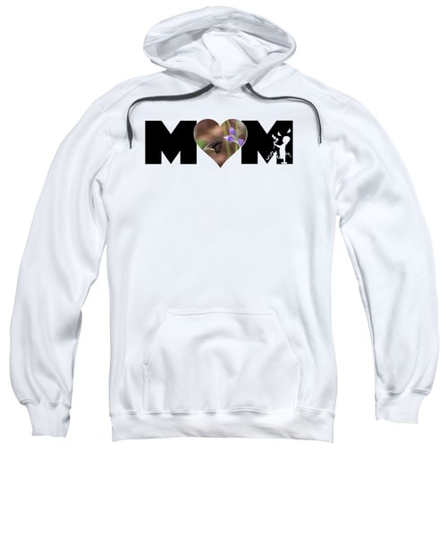 Girl Silhouette And Butterfly On Lavender In Heart Mom Big Letter Sweatshirt