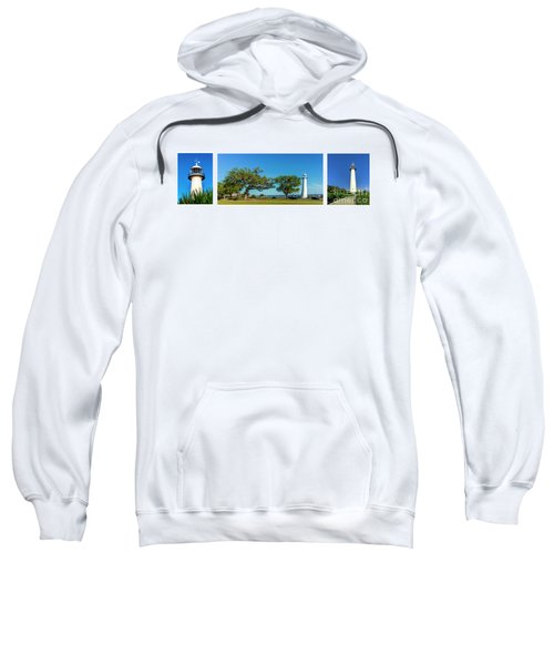 Grand Old Lighthouse Biloxi Ms Collage A1e Sweatshirt