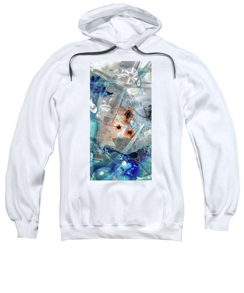 Gray And Blue Abstract Art - Enchanted Journey 3 - Sharon Cummings Sweatshirt