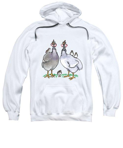 Guinea Fowl Family  Sweatshirt