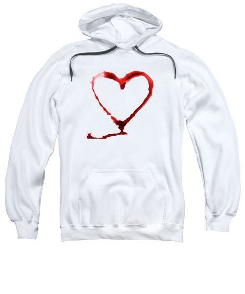 Heart Shape From Splaches And Blobs Sweatshirt