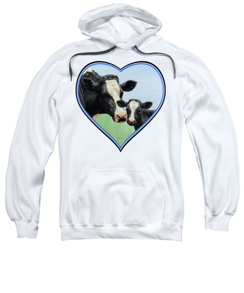 Holstein Cow And Calf Sweatshirt