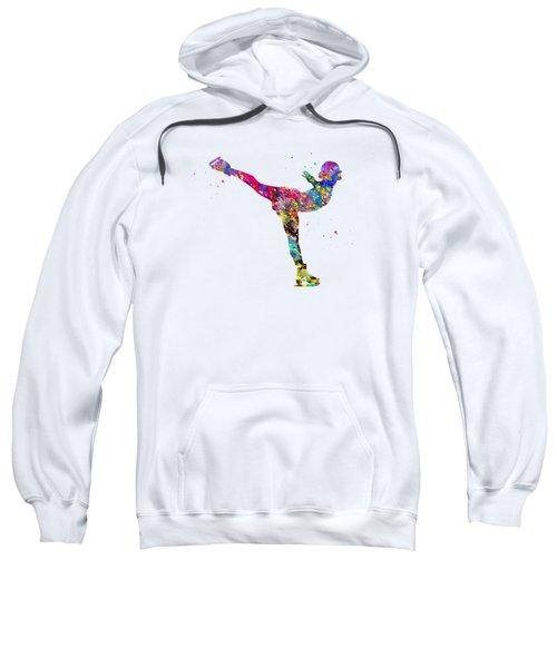 Ice Skating Girl-colorful Sweatshirt