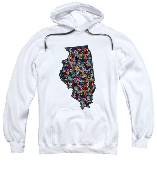 Illinois Map - 1 Sweatshirt