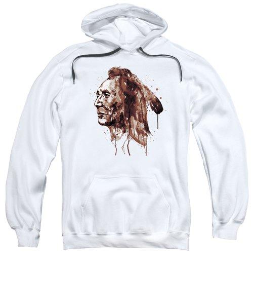 Indian Warrior Sepia Tones Sweatshirt