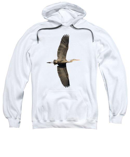 Isolated Great Blue Heron 2018-1 Sweatshirt